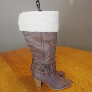 🖤JustFab Faux Fur Boots sz 10